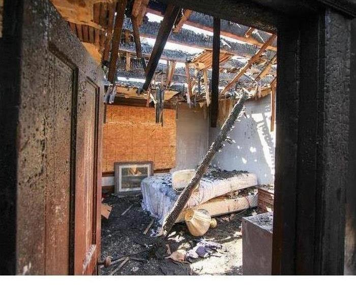 Inside of a home after a fire